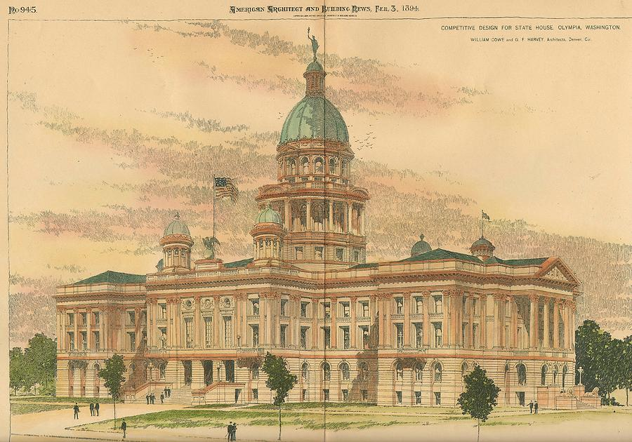 Design For The State House Olympia Washington 1894