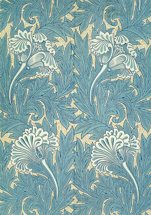 Design In Turquoise Tapestry - Textile