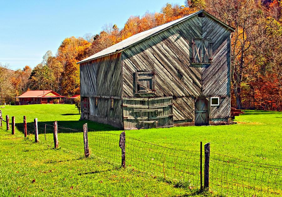 West Virginia Photograph - Designer Barn by Steve Harrington