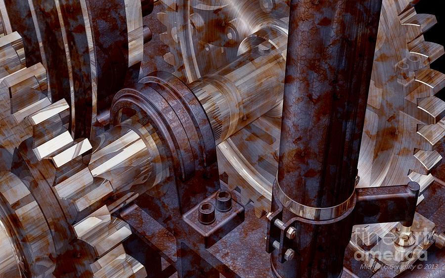 Designer Pumpjack Macro V2 18122013 Digital Art