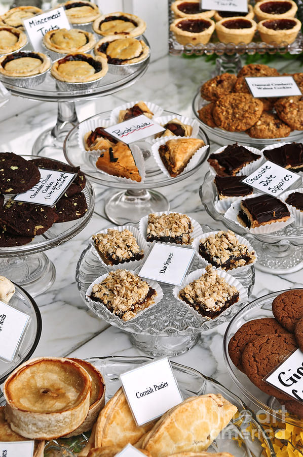 Desserts In Bakery Window Photograph