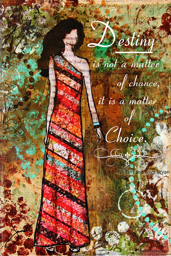 Destiny Inspirational Christian Art Mixed Media