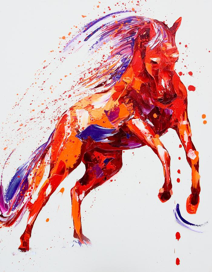 Horse Painting - Destiny by Penny Warden