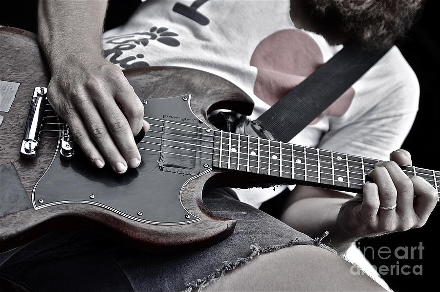 Guitar Photograph - Detail by Kyle Robish