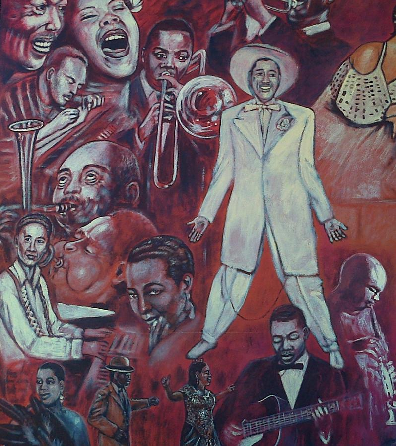 Detail of african american mural painting by george pedro for African mural painting