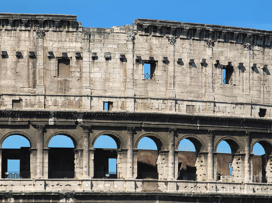 Detail Of Colosseum Facade Photograph