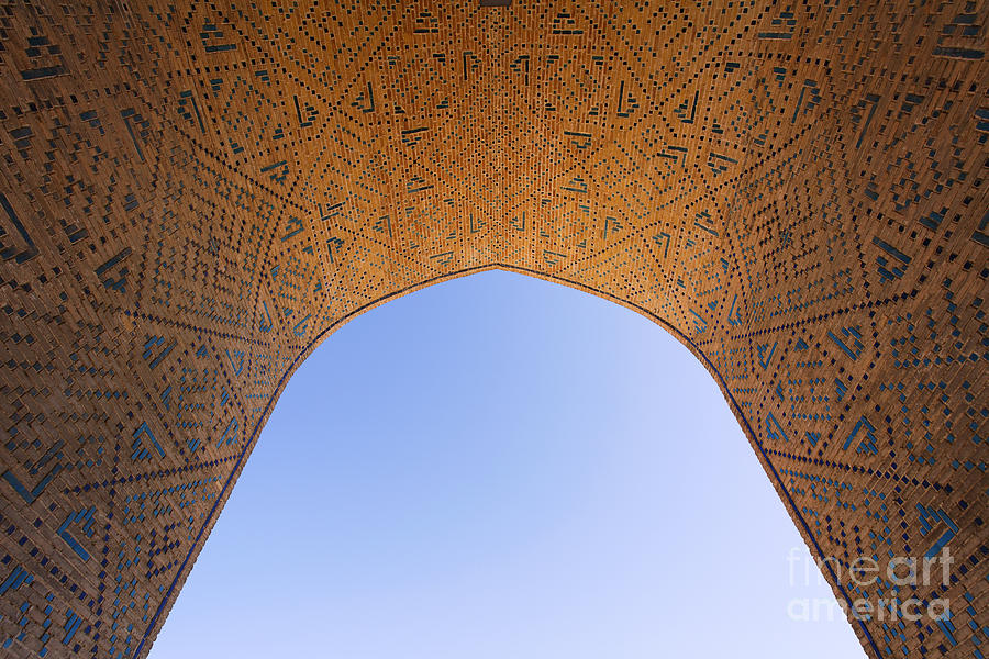Detail Of The Kalon Mosque At Bukhara In Uzbekistan Photograph