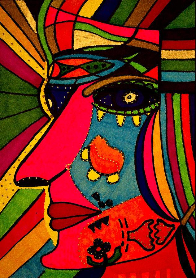 Determination - Face - Expression PaintingDetermination Face
