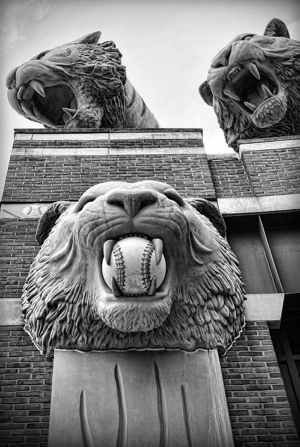 Detroit Tigers Comerica Park Tiger Statues Photograph