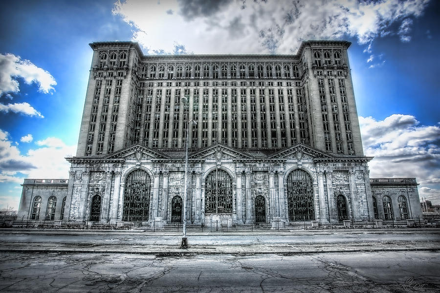 Detroits Abandoned Michigan Central Train Station Depot Photograph