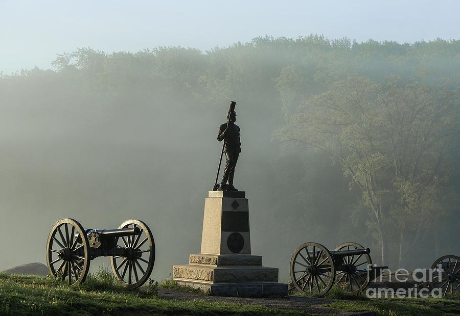Devils Den Monument At Gettysburg Photograph