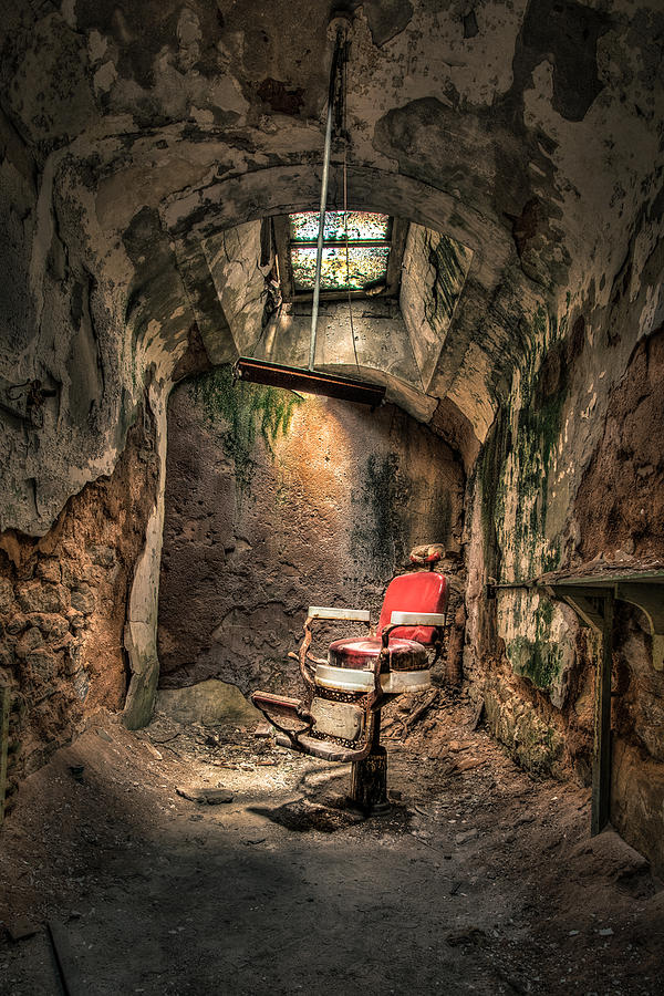 Devils Haircut - Barbers Chair - Demon Barber Photograph  - Devils Haircut - Barbers Chair - Demon Barber Fine Art Print