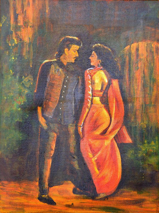Dhak Dhak Painting - Dhak Dhak by Usha Shantharam