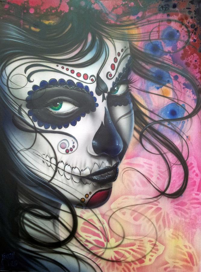 Dia De Los Muertos Chica Painting