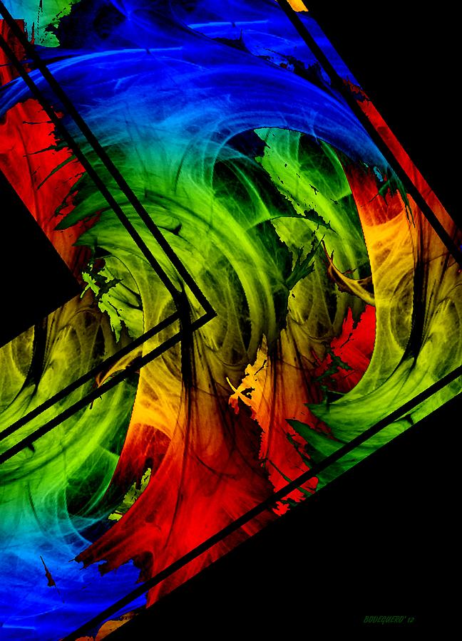 Diagonal Multi Color Design In Digital Art Digital Art  - Diagonal Multi Color Design In Digital Art Fine Art Print