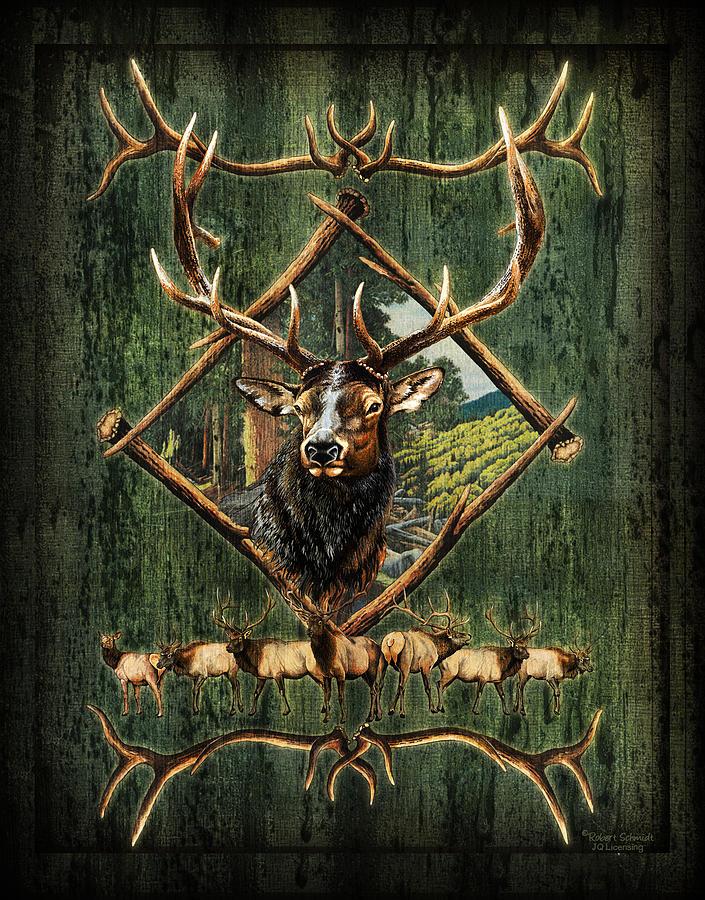 Robert Schmidt Painting - Diamond Elk by JQ Licensing