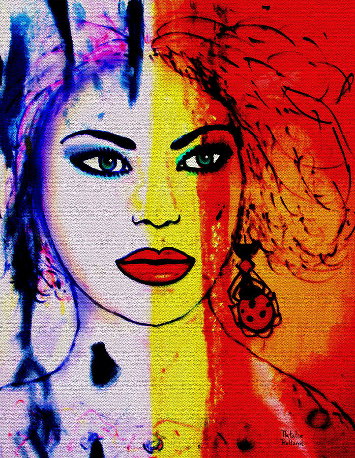 Diana Mixed Media  - Diana Fine Art Print
