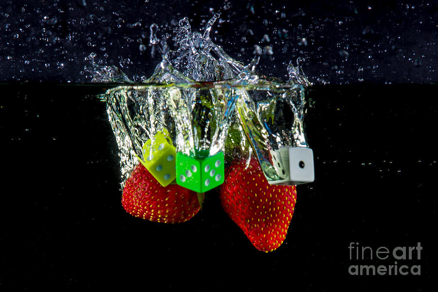 Dice Splash Photograph  - Dice Splash Fine Art Print