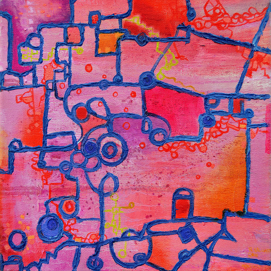 Dichotomy  Original Abstract Oil Painting By Regina Valluzzi Painting