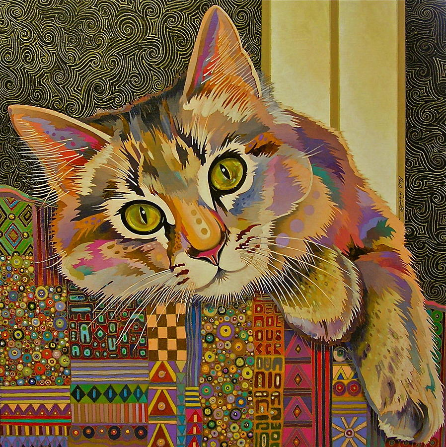 Feline Art Painting - Diego by Bob Coonts
