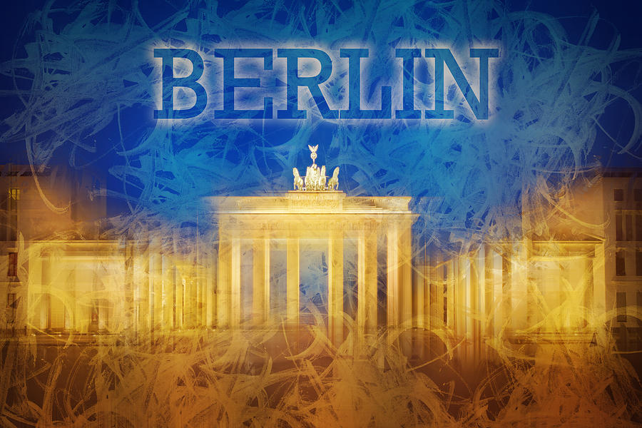 Abstract Photograph - Digital-art Brandenburg Gate II by Melanie Viola