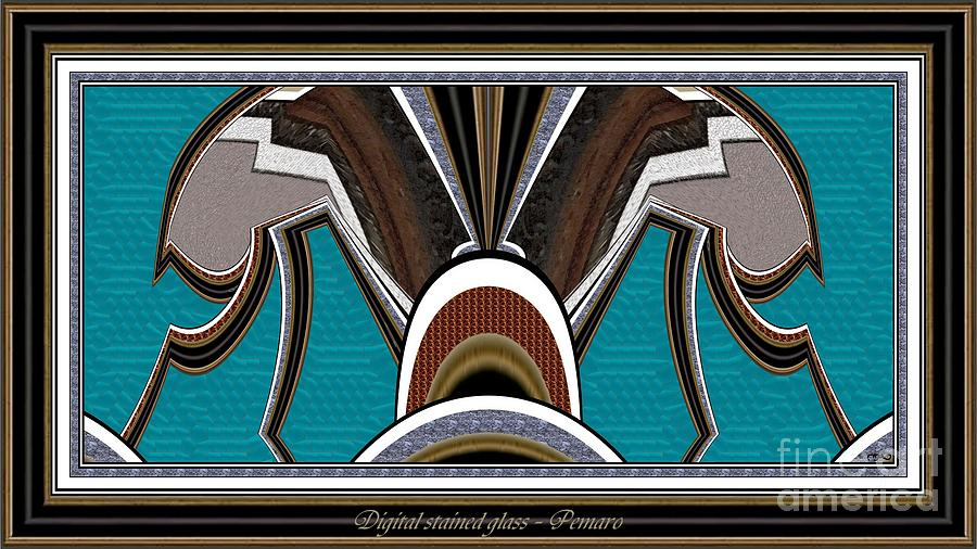 Digital Stained Glass 1sg002 Painting