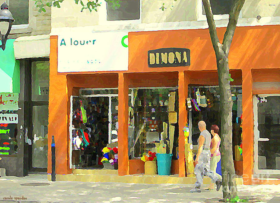 Dimona Latin Quarter Romantic Morning Summer Stroll Pretty Streets Montreal City Scene C Spandau Painting