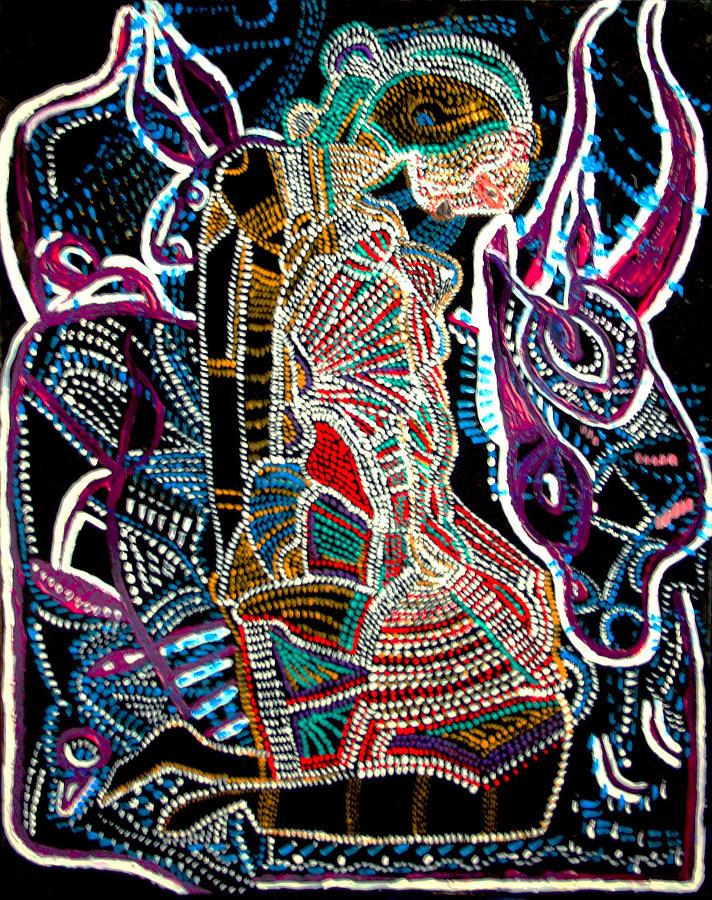 Jesus Painting - Dinka Bride by Gloria Ssali