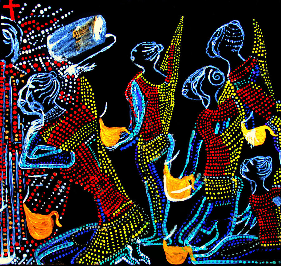 Dinka Wise Virgins Painting