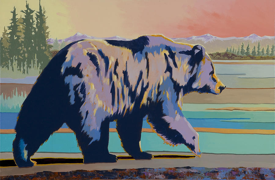 Bear Painting Painting - Dinner Time by Bob Coonts