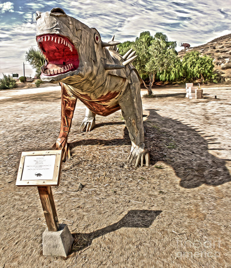 Dinosaur Atack Painting