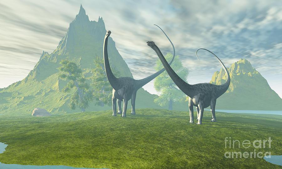 Dinosaur Land Painting