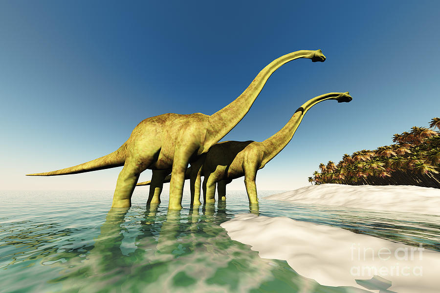 Dinosaur World Painting
