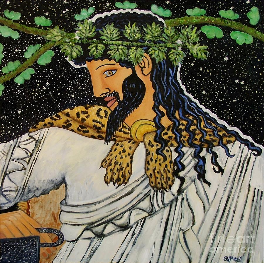 Dionysus Greek God Of Wine Painting