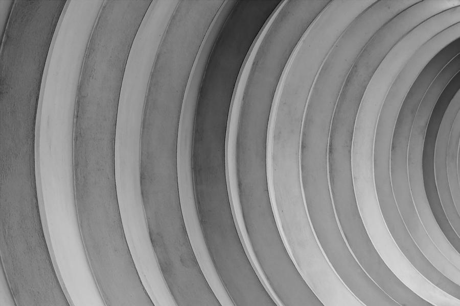 Architectural Abstract Photograph - Dirty Circles by KM Corcoran