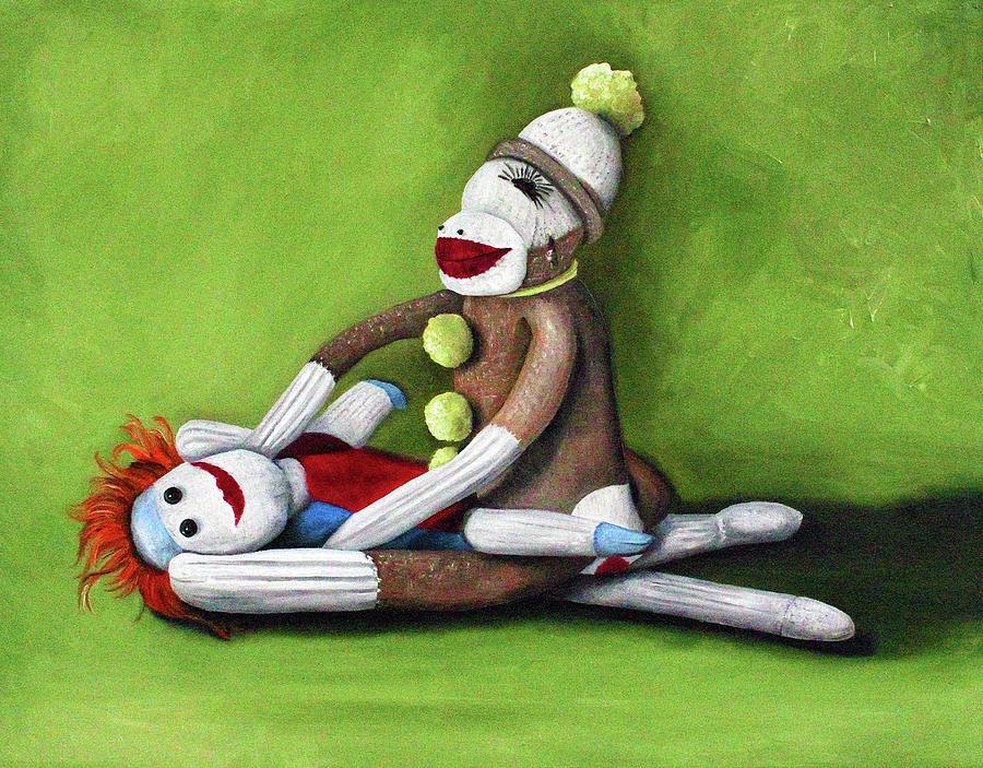 Sock Doll Painting - Dirty Socks by Leah Saulnier The Painting Maniac