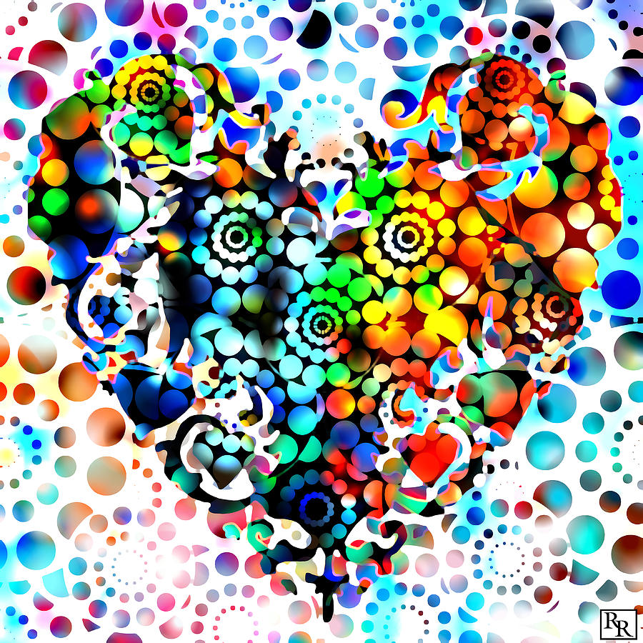 Disco Heart is a painting by Robert R Splashy Art Abstract Paintings ...