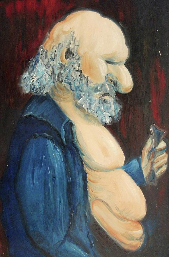 Old Painting - Discouraged by Suzanne  Marie Leclair