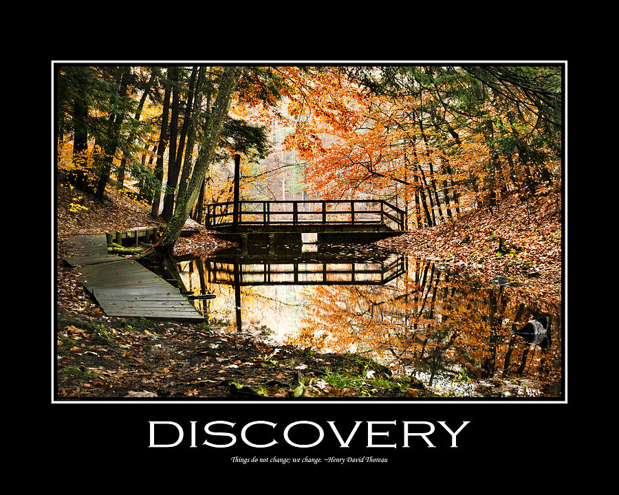 Discovery Inspirational Motivational Poster Art Digital Art