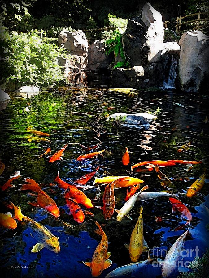 Disney Epcot Japanese Koi Pond Photograph By Joan Minchak