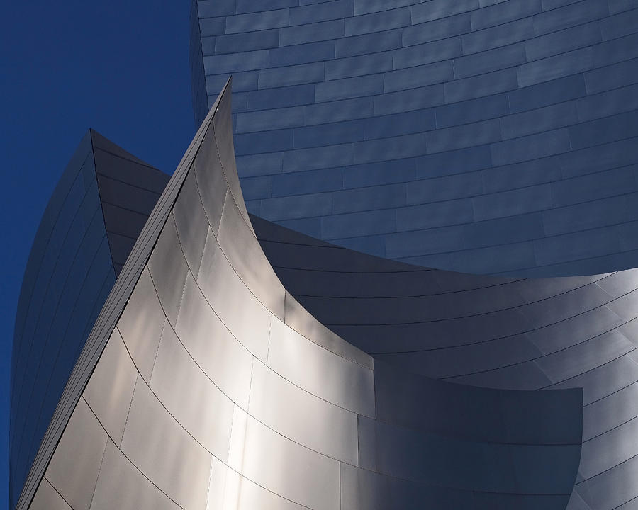 Walt Disney Concert Hall Photograph - Disney Hall Abstract by Rona Black