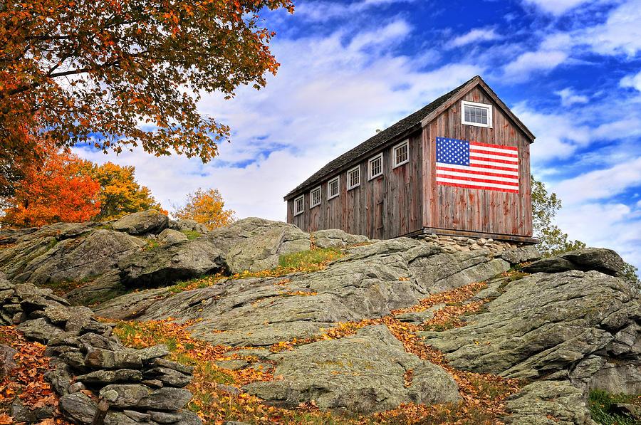 Display Of Colors - Roxbury Barn  Photograph