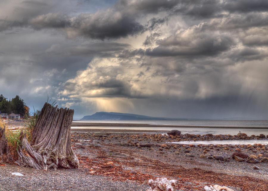 Distant Storm Photograph