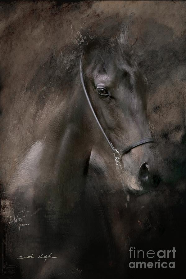 Horse Painting - Distinguished by Dorota Kudyba