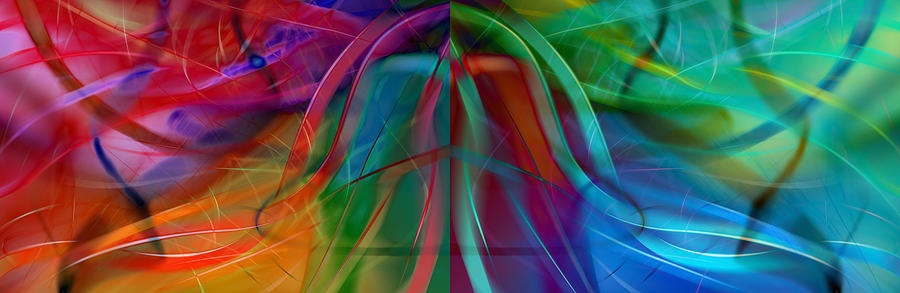 Abstract Fractals graphic Design digital Art Illustration computer Art Abstract Digital Art - Division Bell by Robin Curtiss