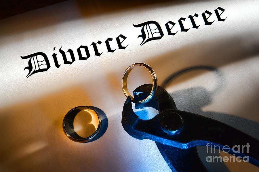Divorce Photograph - Divorce Decree by Olivier Le Queinec