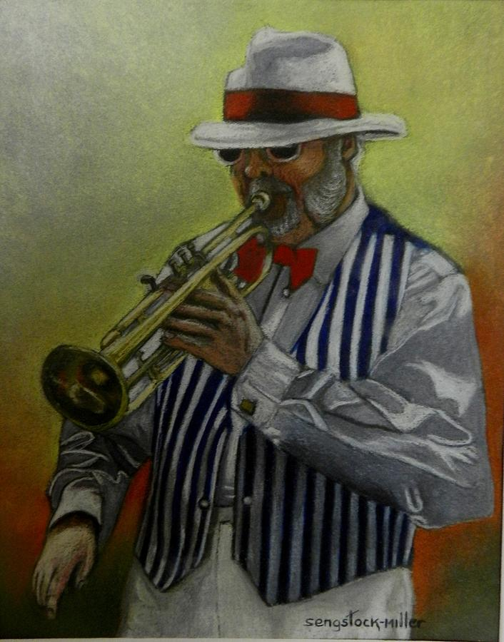Dixie Music Man Pastel  - Dixie Music Man Fine Art Print
