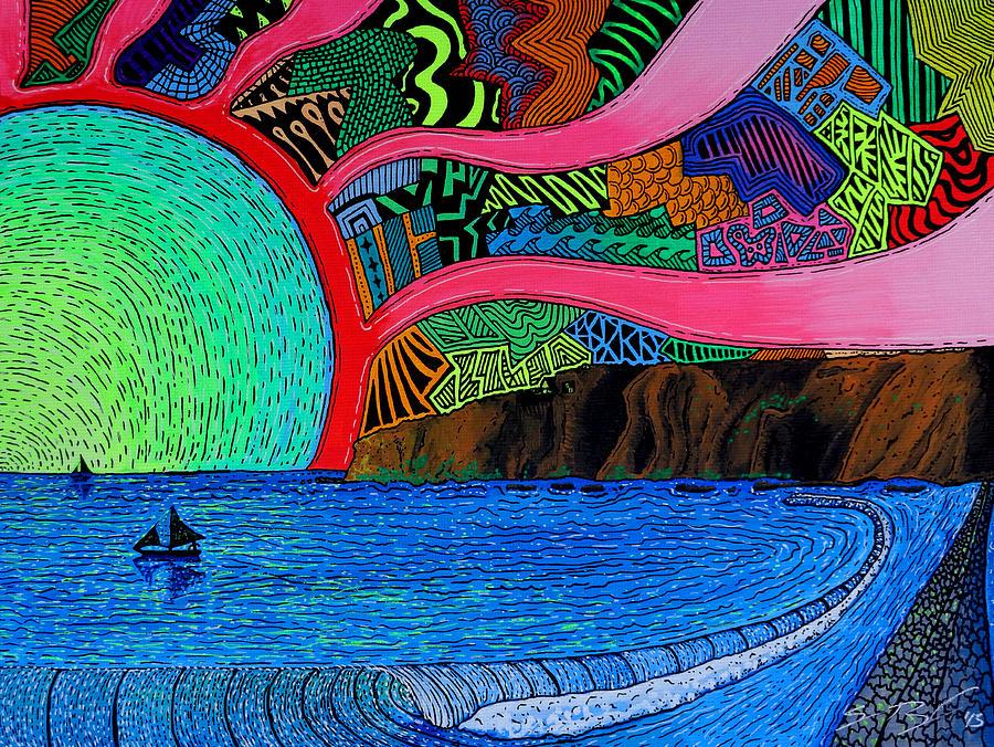 Dizzy Dana Point Painting