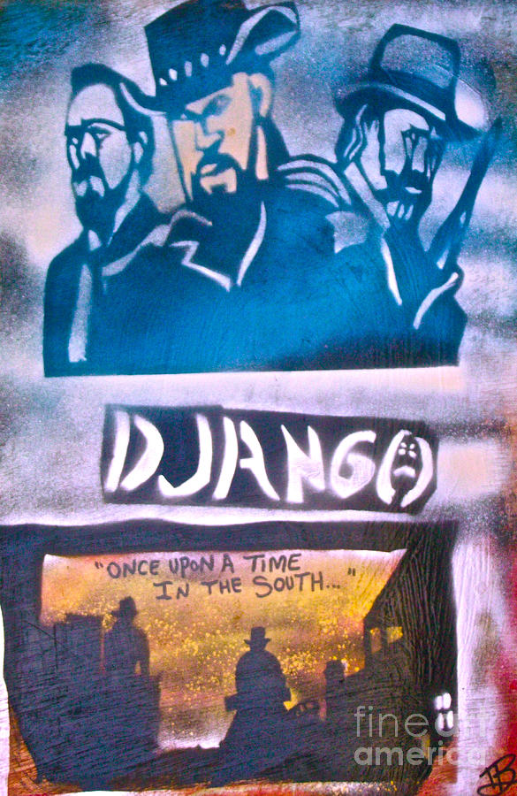 Django Once Upon A Time Painting  - Django Once Upon A Time Fine Art Print