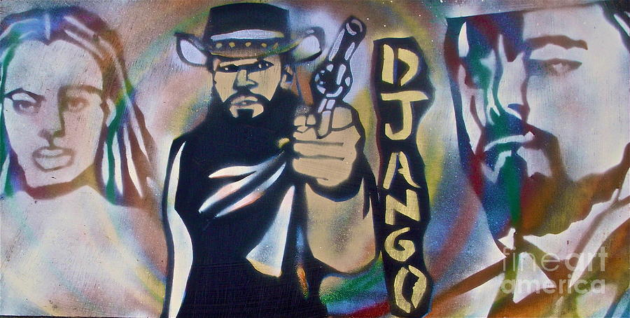 Django Three Faces Painting  - Django Three Faces Fine Art Print